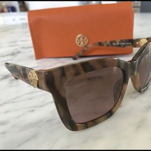 Tory Burch tortoise shell sunglasses
